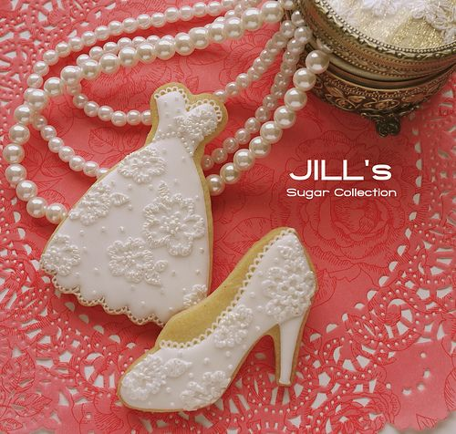 bridal cookies beautiful