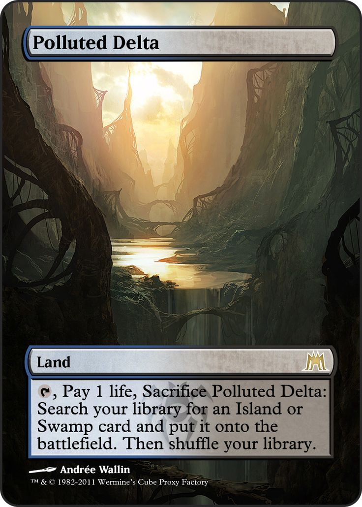 Magic The Gathering Polluted Delta Proxy