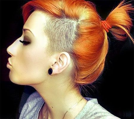 shaved side + ponytail http://www.girlshue.com/30-new-one-sided-shaved-hairstyles-haircuts-for-girls-women-2014/
