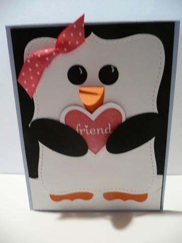 penguin card @Desiree Nechacov Wright Pliler for Meadow's next birthday!
