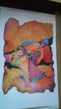 Drawing ink and ecoline    made by me 1998 long time ago