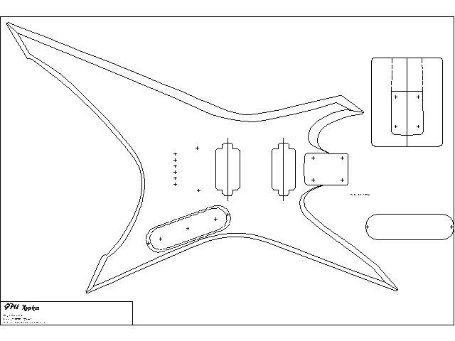 xiphos chitarre pinterest body template and templates on silvertone guitar sg wiring diagram