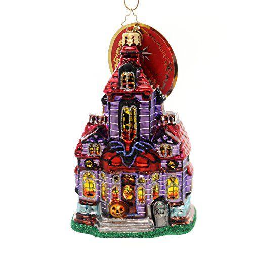 Christopher Radko Haunted Hangout Halloween House Christmas Ornament
