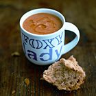 Oh my gosh, yummie, my almost 2yo couldn't stop eating :-) --- Jamie's tomato soup. A simple and honoust soup. Delisch!