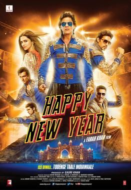 Happy New Year Starring: Shahrukh Khan,Deepika Padukone,Boman Irani,Vivaan Shah,Abhishek Bachchan,Sonu Sood 2014 Movie IMDb:6.6 Action, comedy style is a great movie. With spectacular visual show. And great acting performances. Sounds terrific. The film broke box office records for the first day. You have to be followed strictly. :)