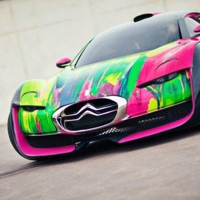 Abstract SuperCar WHAT A PAINT JOB, Would You Drive This