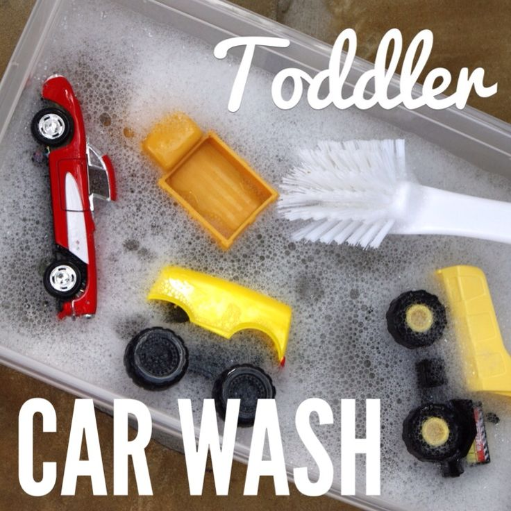 Have your very own toddler car was. We do this in preschool and the kids love it! They also  like to wash the dishes and other toys!