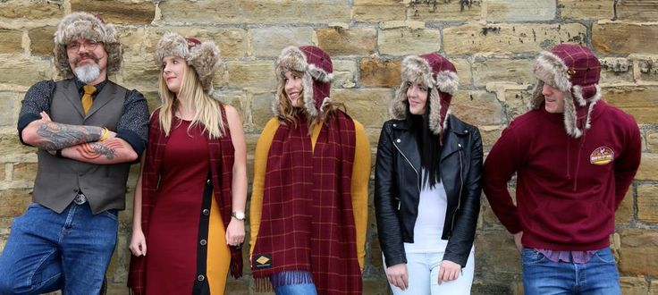 Our trapper hats. Our super warm and cosy trapper hat in bespoke claret and amber tweed. With quilted lining and premium faux fur trim. turnstylewear.com