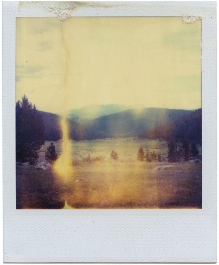 Expired Polaroid Time-zero, Colorado.