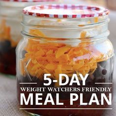 Top 5 Weekday Menus for Weight Watchers #menuplanning #weightwatchersmenu #weightloss