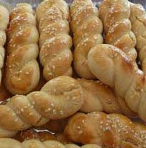 koulourakia- Greek Sesame Cookies - I put lemon extract in mine but my Father-in-law ,who was greek, used anise extract. I also sprinkle some with finely chopped nuts instead of the sesame seeds. Dee ♥