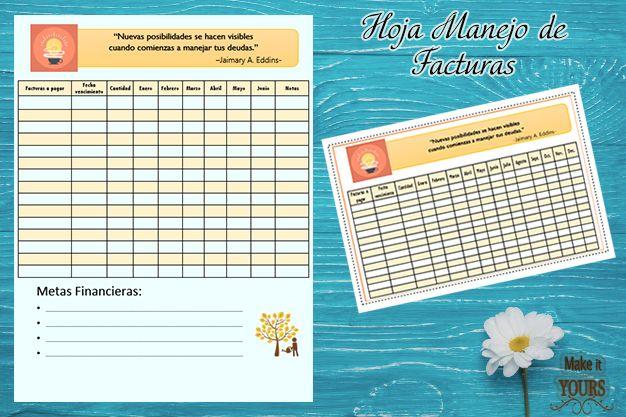 ¿Necesitas mantener tus facturas organizadas y en un solo lugar? Con esta hoja de manejo de facturas podrás mantener seguimiento de tus facturas y pagos. Perfecta para el Big Happy Planner
