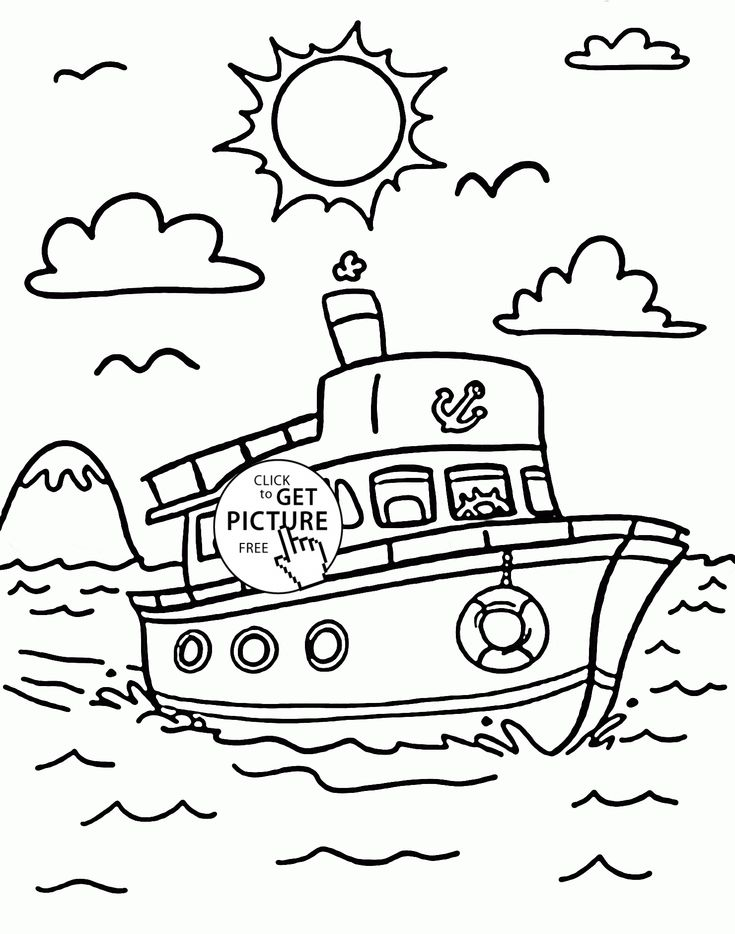 Nice Ship Coloring Page For Kids Transportation Pages Printables Free
