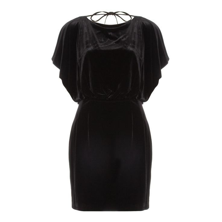 Black Velvet Batwing Dress  for £39.99 #fabfind