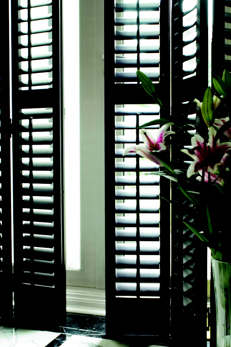 35 best british colonial interior shutters images on for Wood doors and shutters