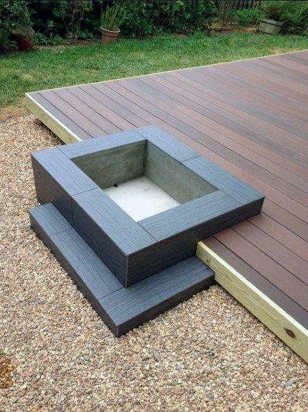 Top 50 Best Deck Fire Pit Ideas – Wood Safe Designs
