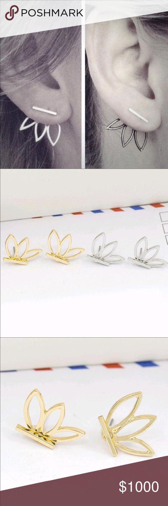 🎉COMING SOON🎉Leaf Flower Stud Earrings Hollow Out Leaf Flower Stud Earrings Jewelry Earrings