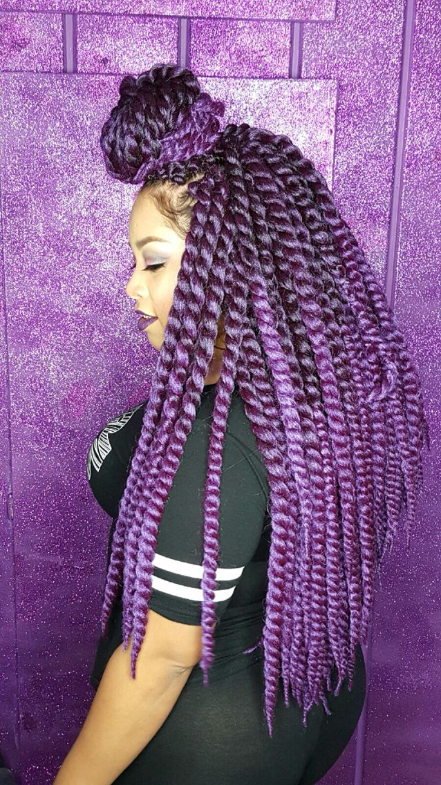 Purple Crochet Twist Janet Collection Havana Twist