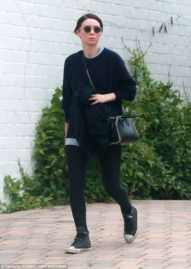 Rooney Mara flaunts lithe frame in black ensemble in Hollywood