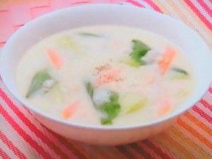 おさらいキッチン | みんなの家庭の医学「大麦の豆乳スープ」のレシピbyたけし慈恵大学病院栄養部 6月14日