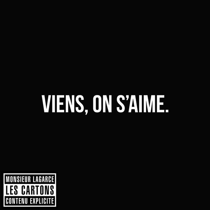 Viens, on s'aime. #LesCartons