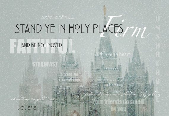 Stand Ye in Holy Places Salt Lake City Utah by AltusPhotoDesign, $9.99