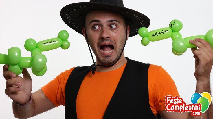 Balloon Crocodile tutorial, how to make a crocodile balloon. Animali con palloncini -- E Il Coccodrillo come si fa? Non c'è nessuno che lo sa? Allora seguite le istruzioni di Mr. Nany e scoprirete anche voi come realizzare il Coccodrillo utilizzando un palloncino modellabile!
