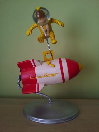 Curious George Spaceship Figurine Snow Globe NIB Collectible | eBay