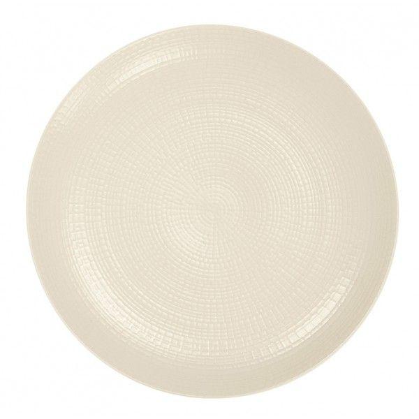 Acheter des assiettes en porcelaine - ASSIETTE PLATE BLANCHE MODULO NATURE - Vaisselle - Guy Degrenne