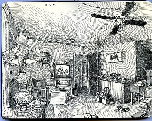 living room on beryl... wish i could sketch it all....