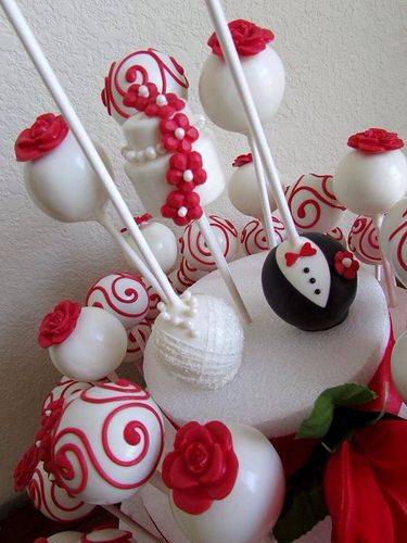 Wedding cake pops maybe for the bachelorette or engagement parties