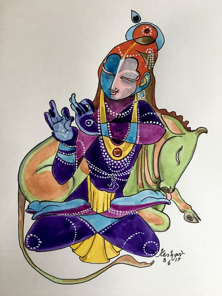 Vanvihari. #watercolor #drawing #krishnaleela #krishnafortoday