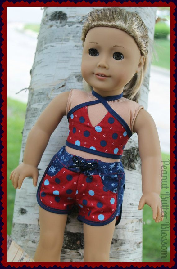 18 Super Cute Diy Valentines Crafts For Kids: American Girl Or Similar 18 Inch Doll Patritic Shorts And