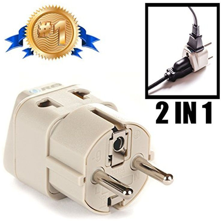 European AC Adapters Plug Schuko Type E/F For Germany, France, Europe, Russia In #Doesnotapply