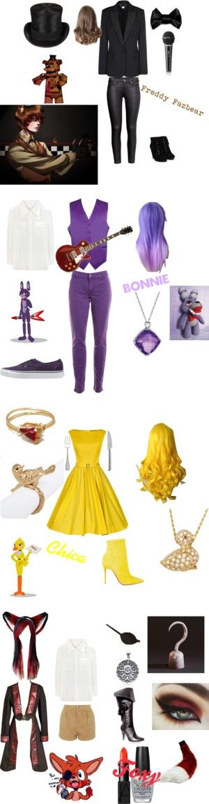 """FNAF inspired clothes"" by ileon20 on Polyvore"