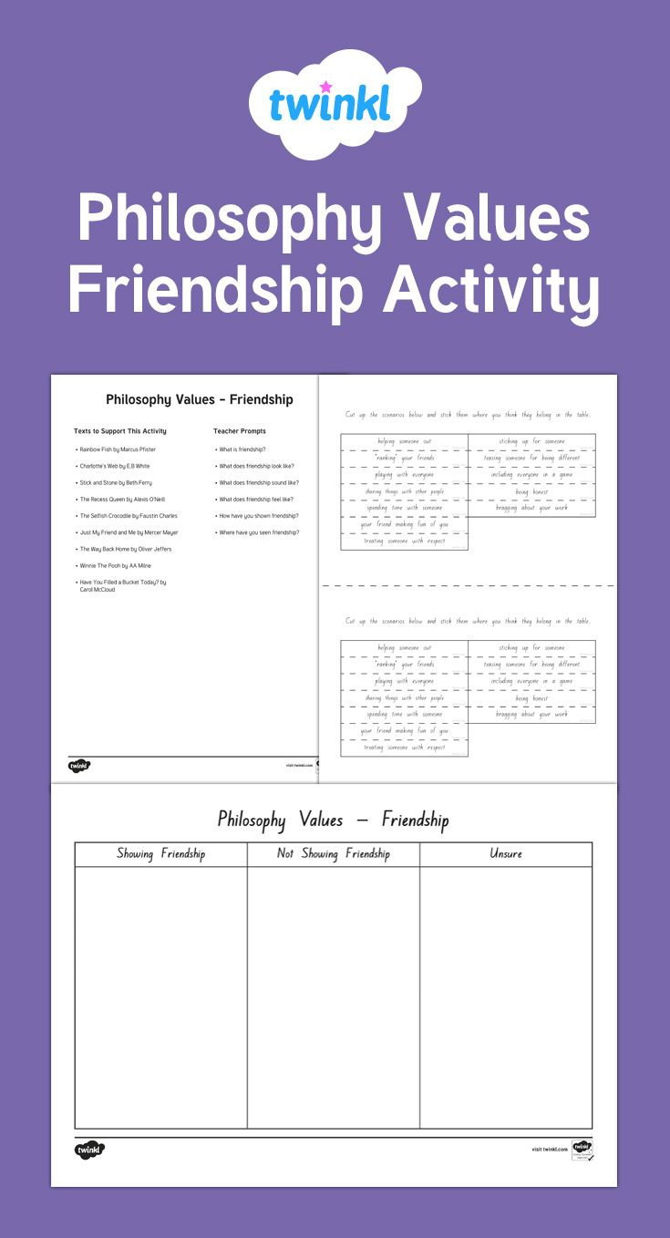 Lovely P4C activity looking at Friendship