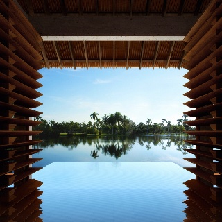 Kengo Kuma Spa for Dellis Cay developed by Cem Kinay