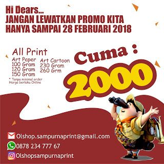 All About Digital Print: BROSUR SOLO