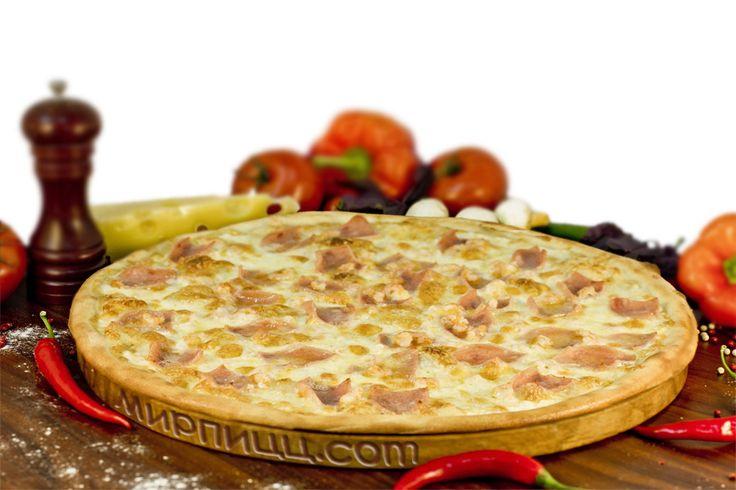 Пицца с Ветчиной и креветками