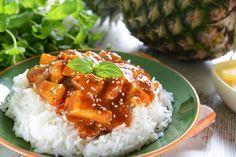 Wok poulet ananas