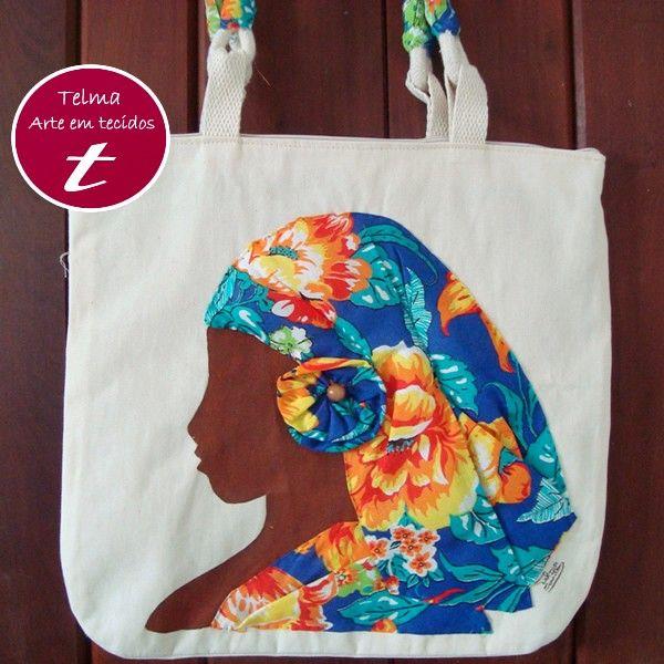 Telma arte em tecidos | Bolsas de tecido | Bordado Pedrarias | Pintura em tecido