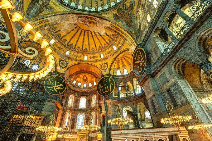 Interior Of The Hagia Sophia Hagia Sophia Istanbul Hagia Sophia Istanbul