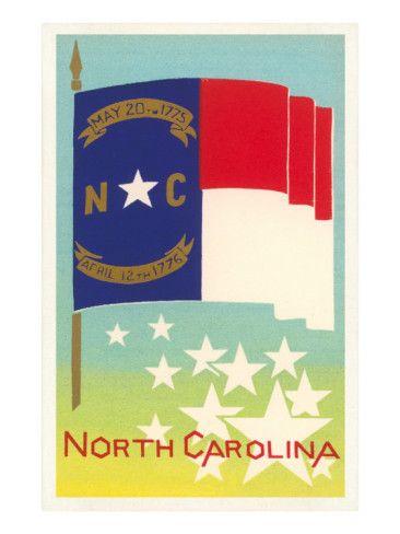 Flag of North Carolina Print