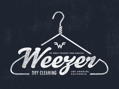 Weezer Dry Cleaning #logo #design