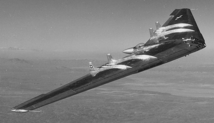 Northrop YB-49, jet-powered heavy bomber with stealth capabilities, 1947
