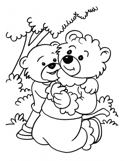 On an outing with mother on Mothers Day coloring page | Download Free On an outing with mother on Mothers Day coloring page for kids | Best Coloring Pages
