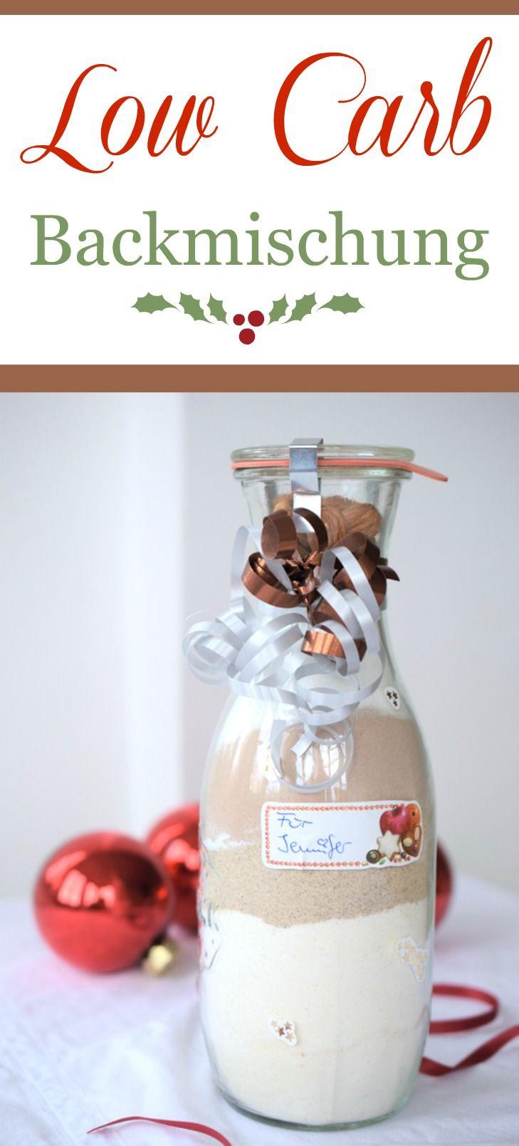 Low Carb Backmischung ☆ Idee zum Verschenken an Weihnachten. Ein kohlenhydratarmes Rezept ausrucken, dranbinden und fertig ist ein Low Carb Backmischung.