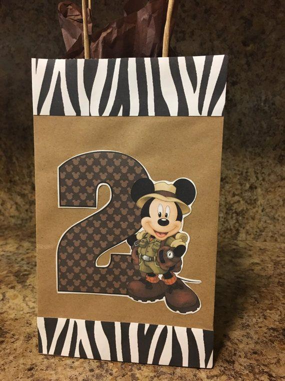 12 bolsas de tratar de ratón de Mickey Safari