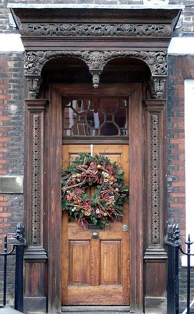 Christmas door - London, England