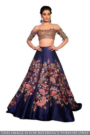 ebc613ea27 Shop Latest Designer Blue Banglori Silk Lehenga With Banglori Silk Choli -  DMV15565 for women online #Designerlehenga #newarrival #Blue #Banglorisilk  ...